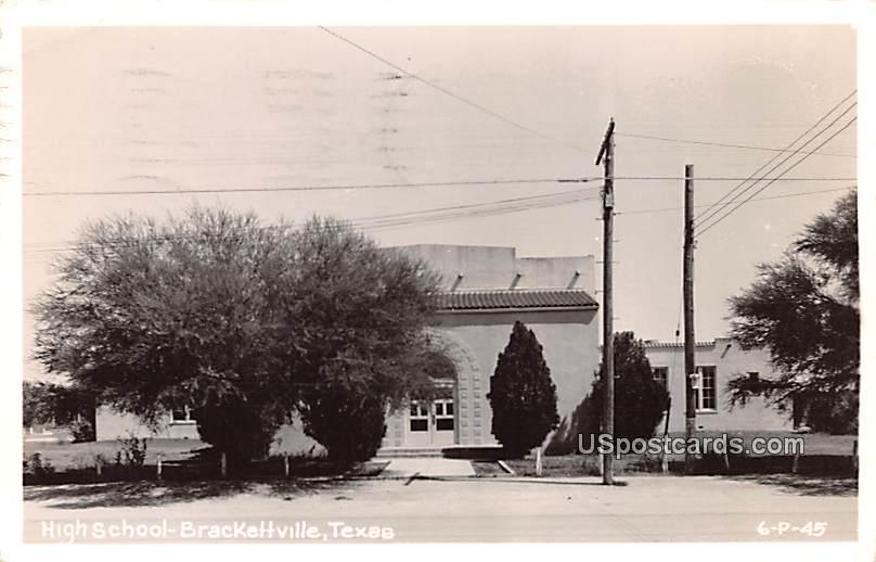 High School - Brackettville, Texas TX Postcard