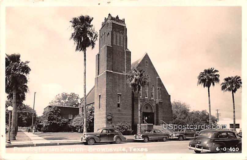 Presbyterian Church - Brownsville, Texas TX Postcard