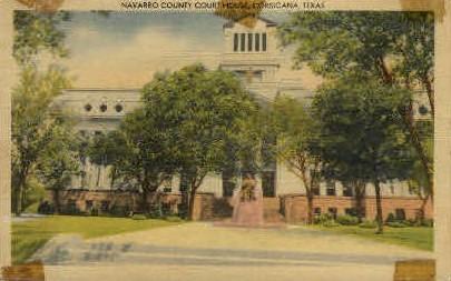 Navarro County Court House - Corsicana, Texas TX Postcard
