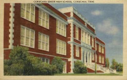 Corsicana Senior High - Texas TX Postcard
