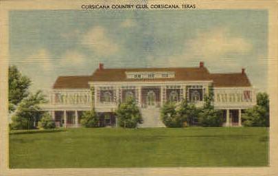Corsicana Country Club - Texas TX Postcard
