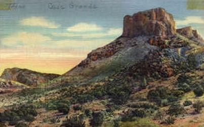 Casa Grande  - Misc, Texas TX Postcard