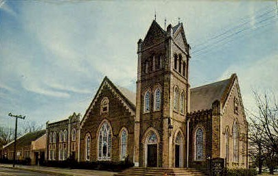 Crockett's Oldest Congregation - Texas TX Postcard