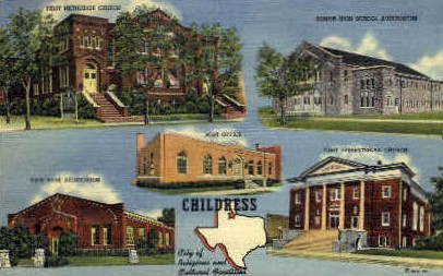 City Of Religious and Cultural Activities  - Childress, Texas TX Postcard