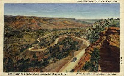 Impressive Canyon Drive  - Texas TX Postcard