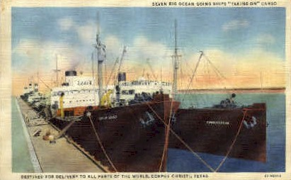 Destined for delivery - Corpus Christi, Texas TX Postcard
