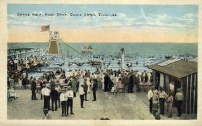 Bathing - Corpus Christi, Texas TX Postcard