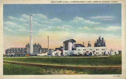 Southern Alkali Corporation  - Corpus Christi, Texas TX Postcard