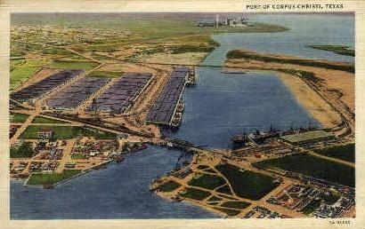 Port of Corpus Christi - Texas TX Postcard