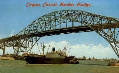 Harbor Bridge  - Corpus Christi, Texas TX Postcard