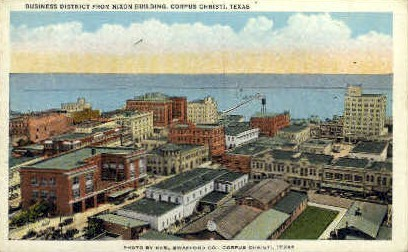 Nixon Building - Corpus Christi, Texas TX Postcard