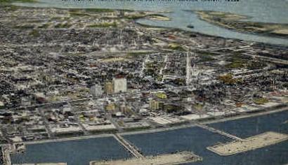 Air View of Yacht Basin - Corpus Christi, Texas TX Postcard