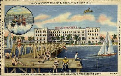Hotel at Water's Edge - Corpus Christi, Texas TX Postcard