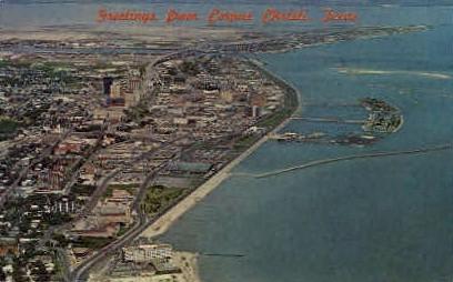 Greetings - Corpus Christi, Texas TX Postcard