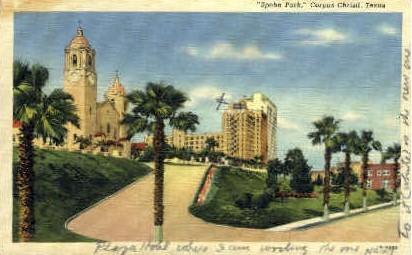 Spohn Park - Corpus Christi, Texas TX Postcard