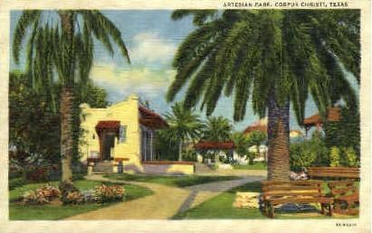 Artesian Park - Corpus Christi, Texas TX Postcard