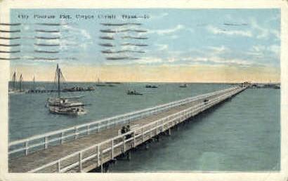 City Pleasure Pier - Corpus Christi, Texas TX Postcard