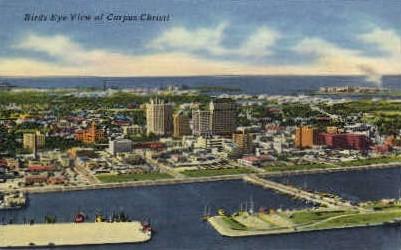 Birds Eye View - Corpus Christi, Texas TX Postcard