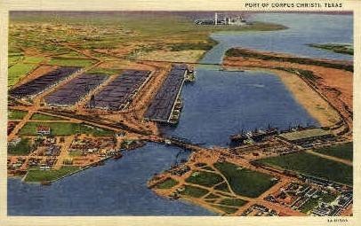 Port - Corpus Christi, Texas TX Postcard