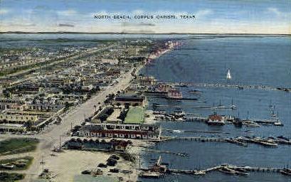 North Beach - Corpus Christi, Texas TX Postcard