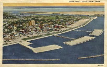 Yacht Basin - Corpus Christi, Texas TX Postcard