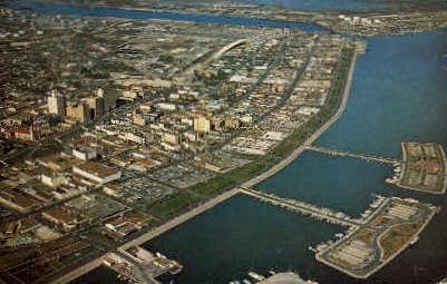Aerial View of downtown  - Corpus Christi, Texas TX Postcard