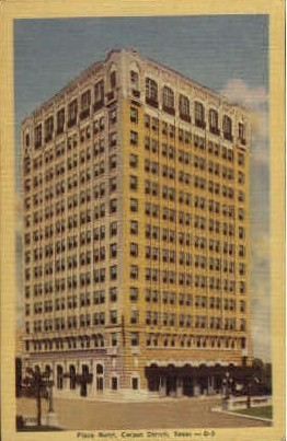 Plaza Hotel - Corpus Christi, Texas TX Postcard