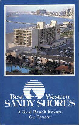 Best Western Sandy Shores - Corpus Christi, Texas TX Postcard