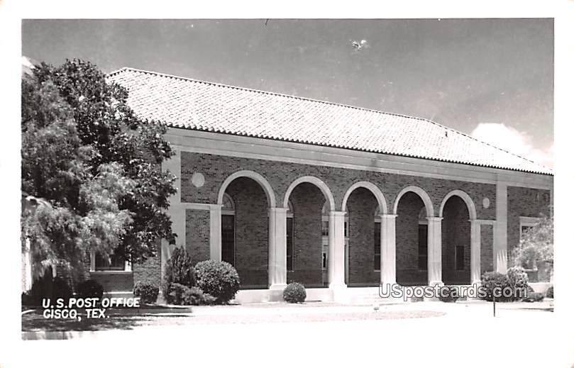 Us Post Office Building - Cisco, Texas TX Postcard