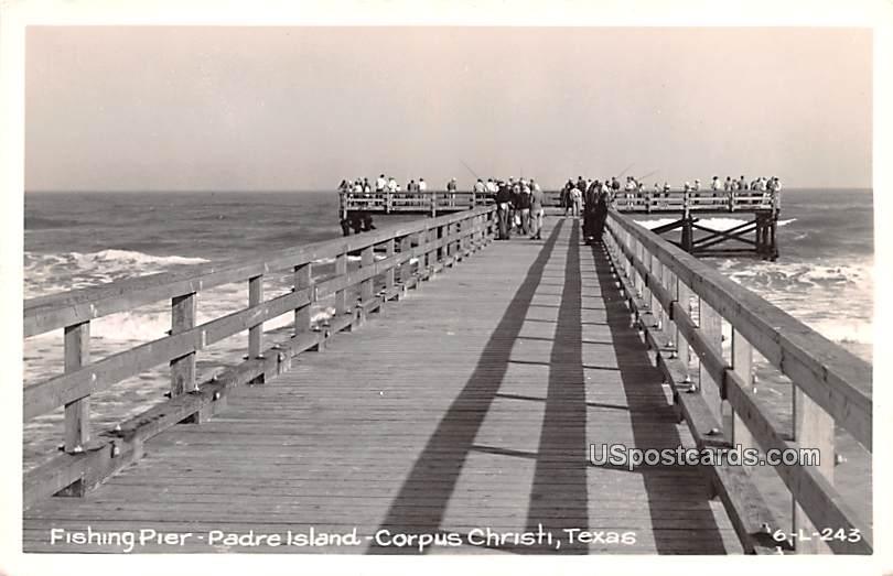 Fishing Pier - Corpus Christi, Texas TX Postcard