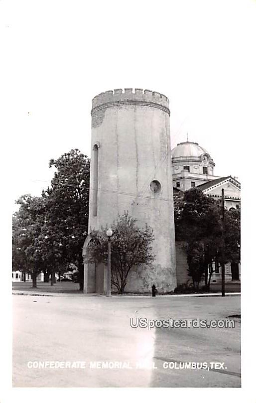 Confederate Memorial Hall - Columbus, Texas TX Postcard