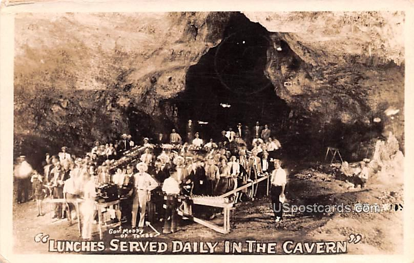 Lunches Served Daily in the Cavern - Carlsbad, Texas TX Postcard