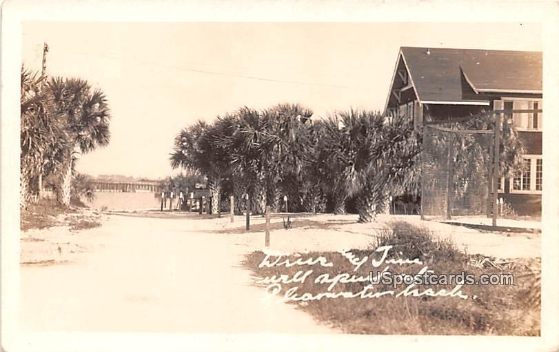 Palm Drive - Clear Water Beach, Texas TX Postcard