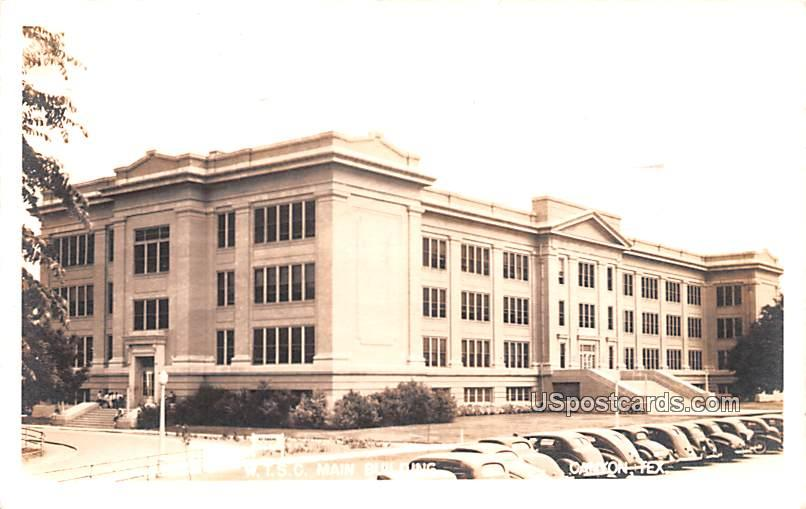 WTSC Main Building - Canyon, Texas TX Postcard
