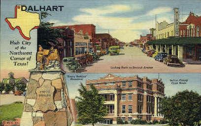 Northwest Corner Of Texas - Dalheart Postcard