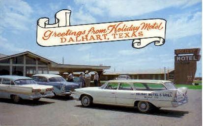 Holiday Motel - Dalheart, Texas TX Postcard