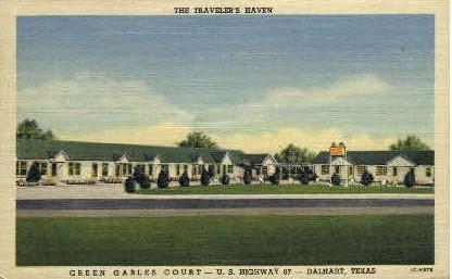 Green Gables Court - Dalheart, Texas TX Postcard