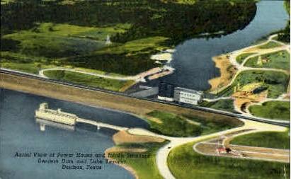 Power House & Intake Structure - Denison, Texas TX Postcard