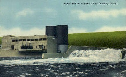Power House - Denison, Texas TX Postcard