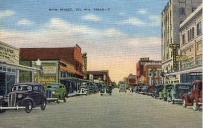 Main street - Del Rio, Texas TX Postcard