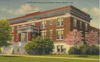 Texas State College For Women - Denton Postcard