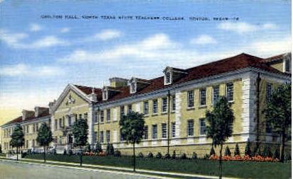 Chilton Hall - Denton, Texas TX Postcard