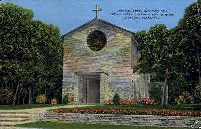 Little Chapel in The Woods - Denton, Texas TX Postcard