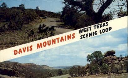 Davis Mountains - Misc, Texas TX Postcard