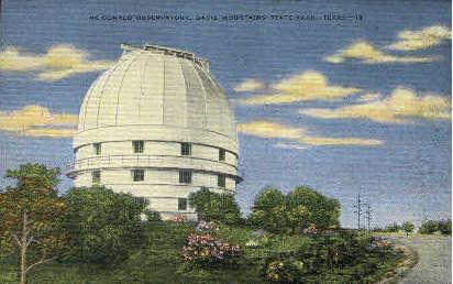 McDonald Observatory - Misc, Texas TX Postcard
