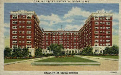 The Melrose Hotel - Dallas, Texas TX Postcard