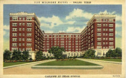 The Melrose Hotel - Dallas, Texas TX Postcard