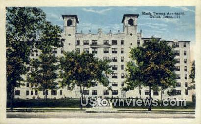 Maple Terrace Apartment - Dallas, Texas TX Postcard