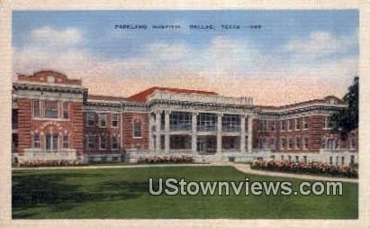 Parkland Hospital - Dallas, Texas TX Postcard