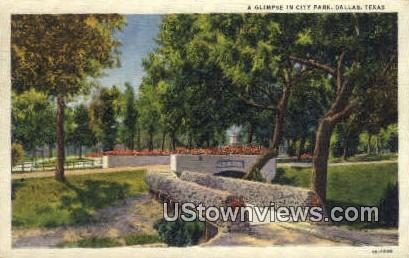 City Park - Dallas, Texas TX Postcard